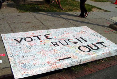 Adams Morgan Street Festival: Vote Out Bush Poster