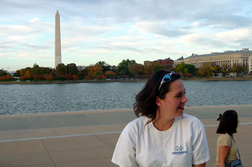 A in front of Tidal Basin