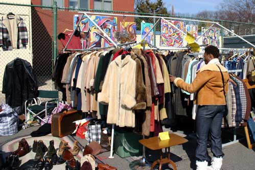 Coat Shopping at Eastern Market