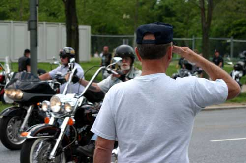 Salute at Rolling Thunder