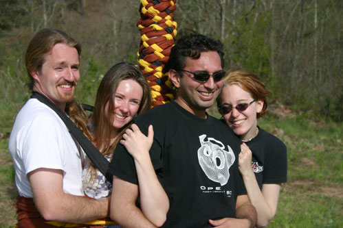 Friends on a May Pole